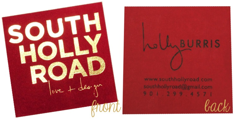 South Holly business card